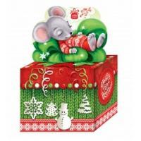 новогодняя упаковка с символом белой мыши